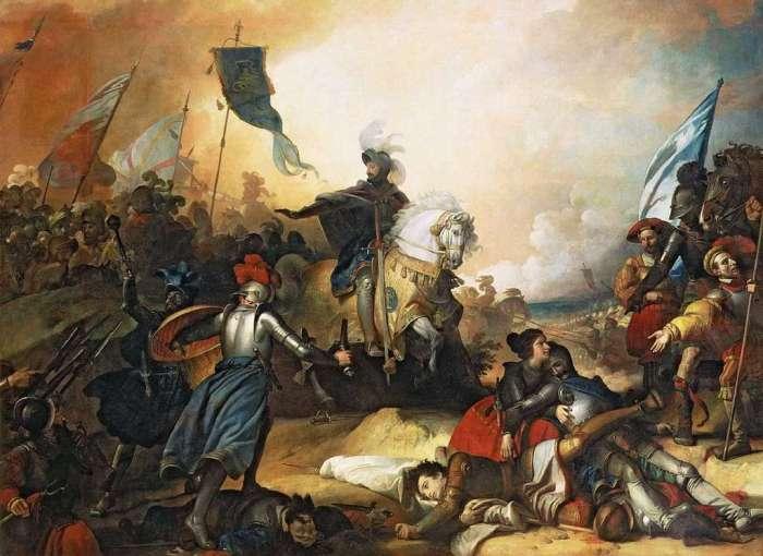 The battle of Marignan by Alexandre Evariste Fragonard in 1836. Palace of Versailles, Galerie des Batailles.  © RMN-Grand Palais, Jean -Luc Manaï.
