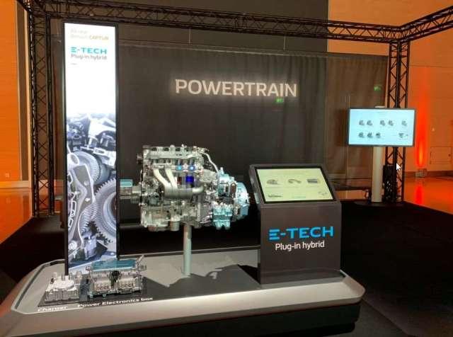 Le moteur hybride rechargeable du nouveau Renault Captur. © Renault