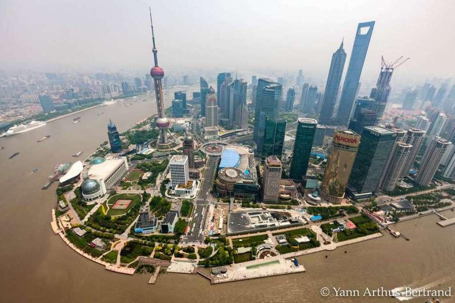 Vue aérienne de Shanghaï. © Yann Arthus Bertrand, tous droits réservés