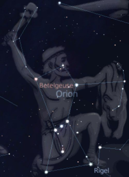 Definition > Constellation of Orion