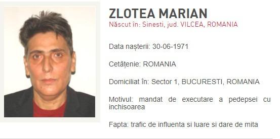 Marian Zlotea, condamnat la 8 ani și jumătate de închisoare, a fost dat în urmărire