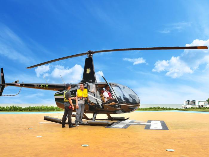 ركوب طائرات الهليكوبتر   المرافق الخارجية   كسيس الكركديه ميناء ديكس
