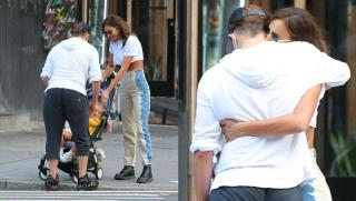 Irina Shayk and Bradley Cooper with their daughter