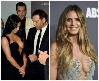Kim Kardashian and Heidi Klum shine with breasts