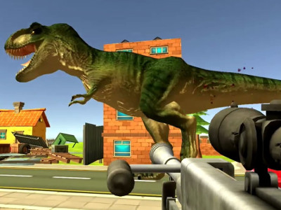 Dinosaur Hunter Dino City   online game   GameFlare com Dinosaur Hunter Dino City
