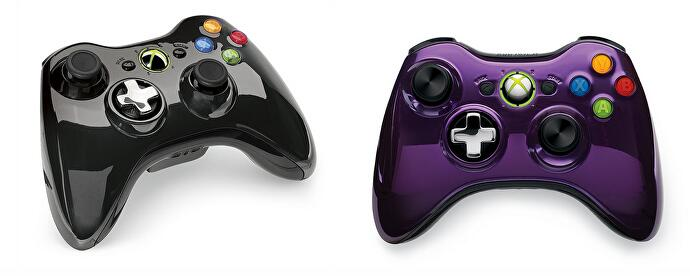 Microsoft Unveils Purple And Black Chrome Xbox 360 Controllers
