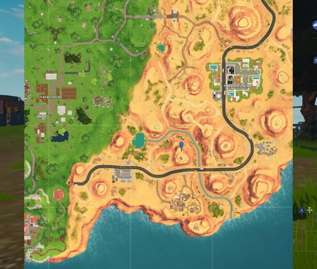 To The Oasis Skirts Around Just Below You Can See An Exact Pinpoint On The Fortnite Map Of Where You Need To Go In Order To Complete This Challenge