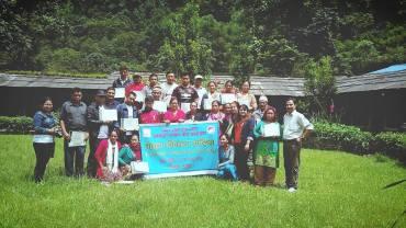 Participants of ACAP Community Leadership training in Birethanti