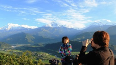 Travel destination Pokhara Nepal