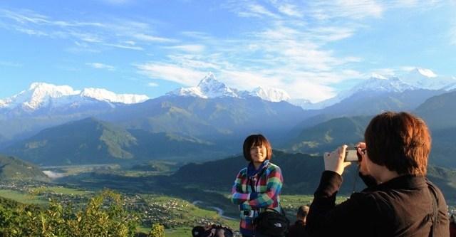 Travel destination Pokhara Nepal