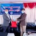 अनलाइन पत्रकार संघ गण्डकी प्रदेशको 'स्वास्थ्य सामग्री हस्तान्तरण र वेभसाइट शुभारम्भ'