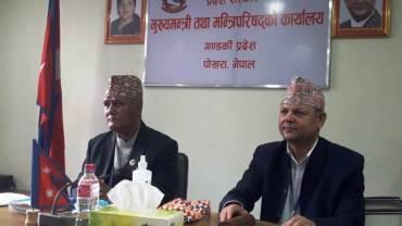 गण्डकी प्रदेशका मन्त्री एवं सरकारका प्रवक्ता कुमार खड्का