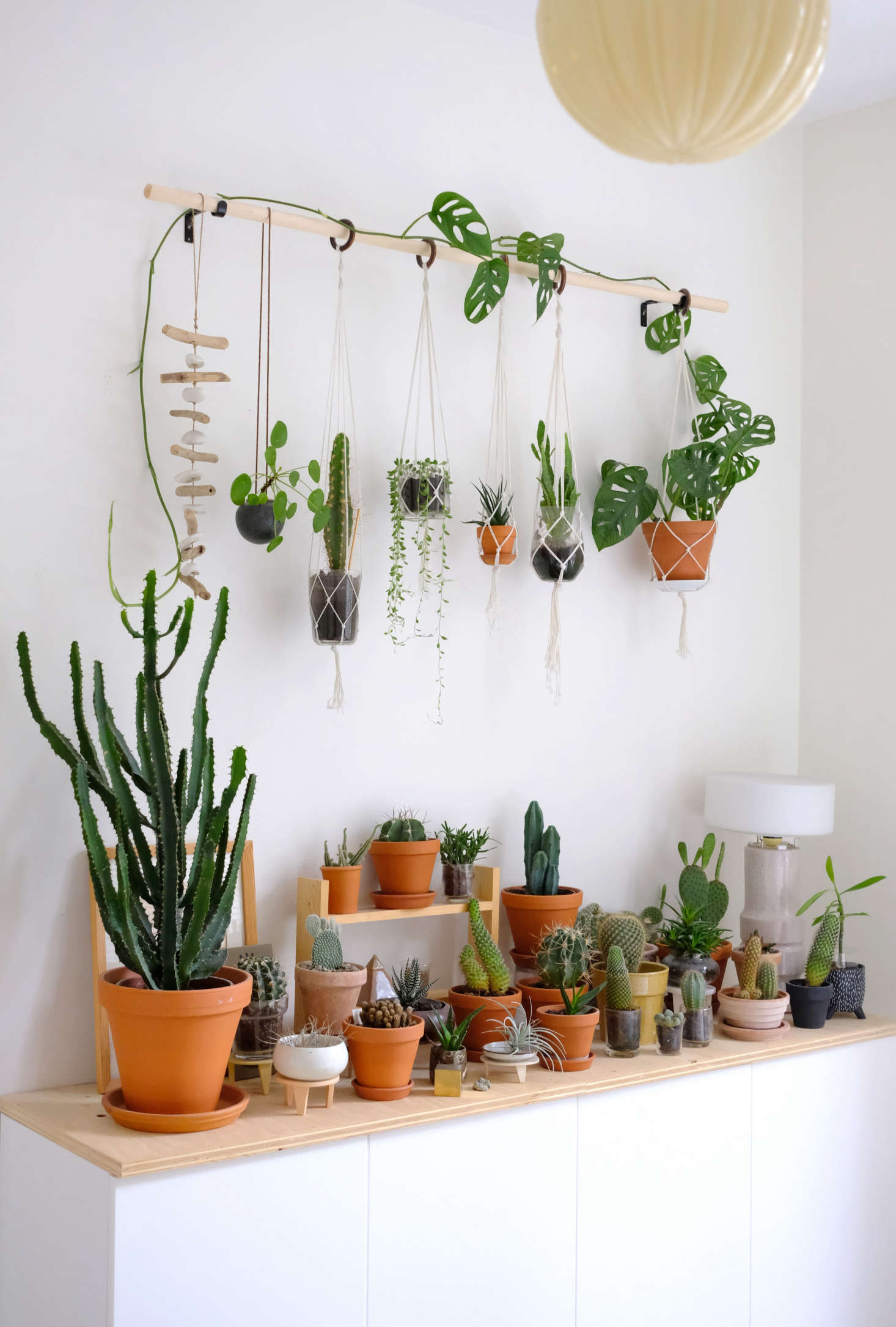 Plant Shelf Decorating Baskets