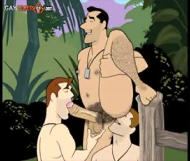 Hairy Dads Secret Gay Threesome Fucking Cartoon
