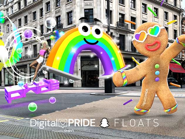 The Digital Pride Floats take to the streets.