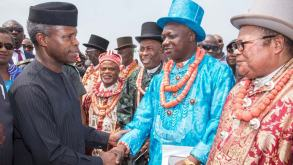Image result for Osinbajo meets with Akwa Ibom leaders, proposes new vision