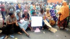 Image result for Sango ota protesting rice sellers