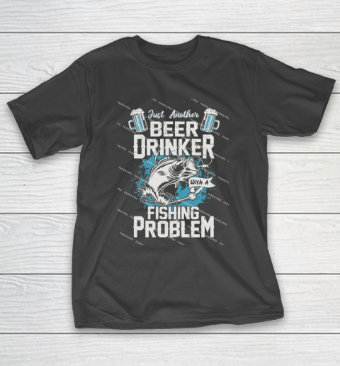 Beer Lover Funny Shirt Fishing ANd Beer T-Shirt