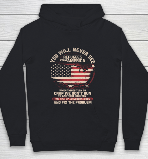 Veteran Shirt Patriot Refugees From America Youth Hoodie