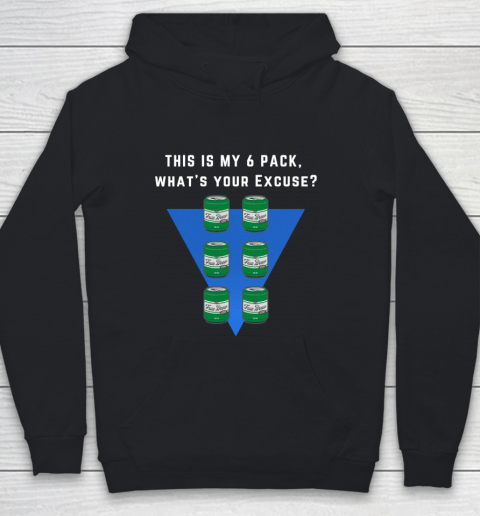Beer Lover Funny Shirt 6 pack Flat belly  Abs made of 6 pack Beers Youth Hoodie