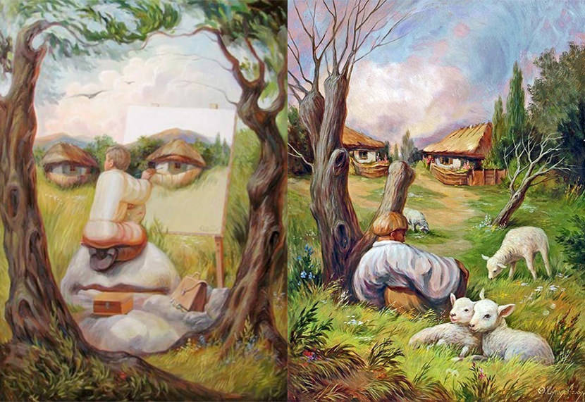 Image result for illusion art