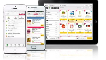 Shares of British web supermarket rise on Amazon takeover rumors