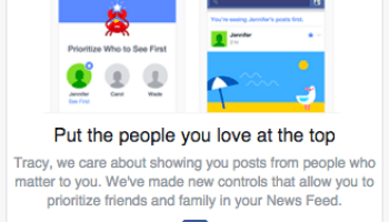 Facebook starts letting desktop users prioritize friends and pages in news feed