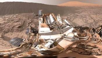 Martian sand dune