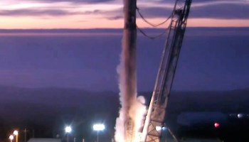 SpaceX static-fire test
