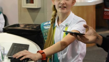 The Girl Scouts are back at CES, showing off their updated digital cookie sales platform