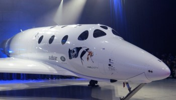 VSS Unity: Virgin Galactic christens a reborn SpaceShipTwo, with assist from Stephen Hawking