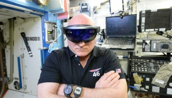 Microsoft's HoloLens headset wins rave review from astronaut Scott Kelly after year in space