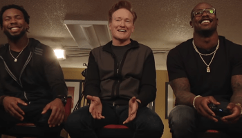 Conan O'Brien pairs Carolina, Denver players in 'Clueless Gamer' skit, with a Marshawn Lynch cameo