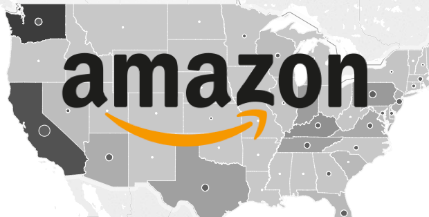 The United States of Amazon: Interactive map shows tech giant's ...