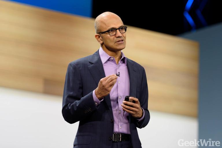 Microsoft CEO Satya Nadella. (GeekWire File Photo)