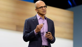 Microsoft CEO Satya Nadella touts Azure's advantages over market-leading Amazon Web Services