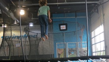Kid tested: Trampoline uses gaming technology to merge screen time with exercise