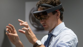 Whoa, Canada! Prime Minister Trudeau tries HoloLens at Microsoft's new Vancouver office