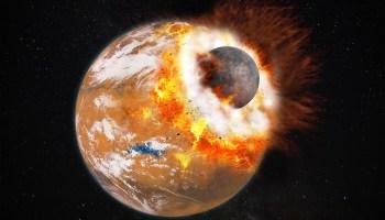 Mars giant impact