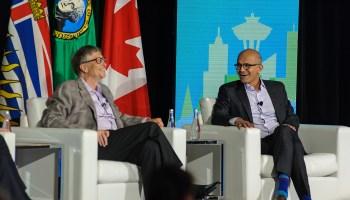 Live: Bill Gates and Microsoft CEO Satya Nadella in Vancouver, B.C.