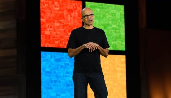 Microsoft CEO Satya Nadella outlines its cloud computing strategy for Wall Street