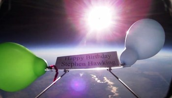 High-altitude balloon tribute to Stephen Hawking