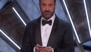 Twitter makes an Oscars appearance as Jimmy Kimmel tweets at Donald Trump on stage