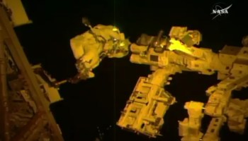 Thomas Pesquet on spacewalk