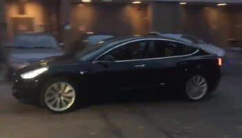 Elon Musk posts a sneak peek of the first drive for a Tesla Model 3 electric car