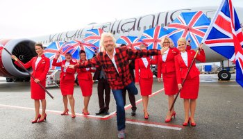 Richard Branson at Sea-Tac