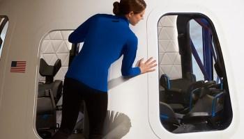Blue Origin New Shepard spaceship view