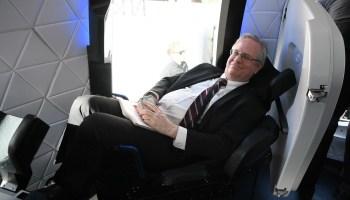 Alan Boyle in Blue Origin New Shepard seat