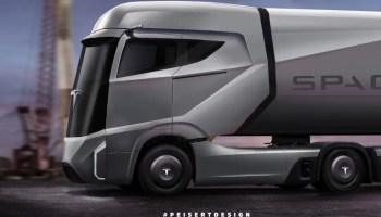 Tesla Semi design