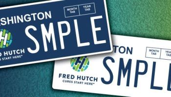 Washington state OKs Fred Hutch license plates to raise funds for cancer research
